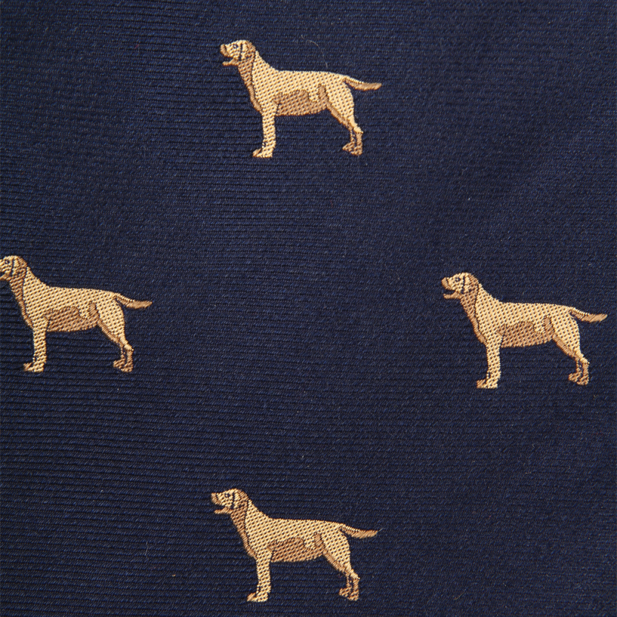 Woven Yellow Lab Gent - Navy